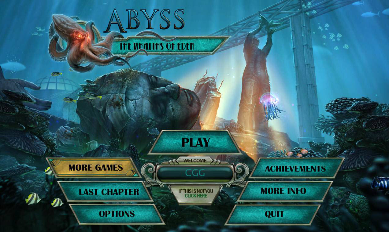 Abyss: The Wraiths of Eden Walkthrough: Title Screen
