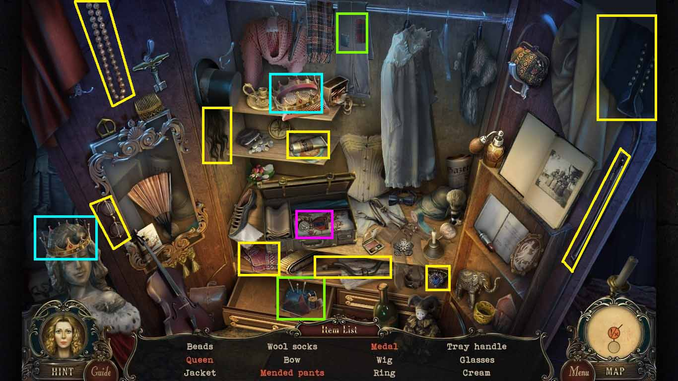 Brink of Consciousness: The Lonely Hearts Murders Walkthrough: Hidden Object 1