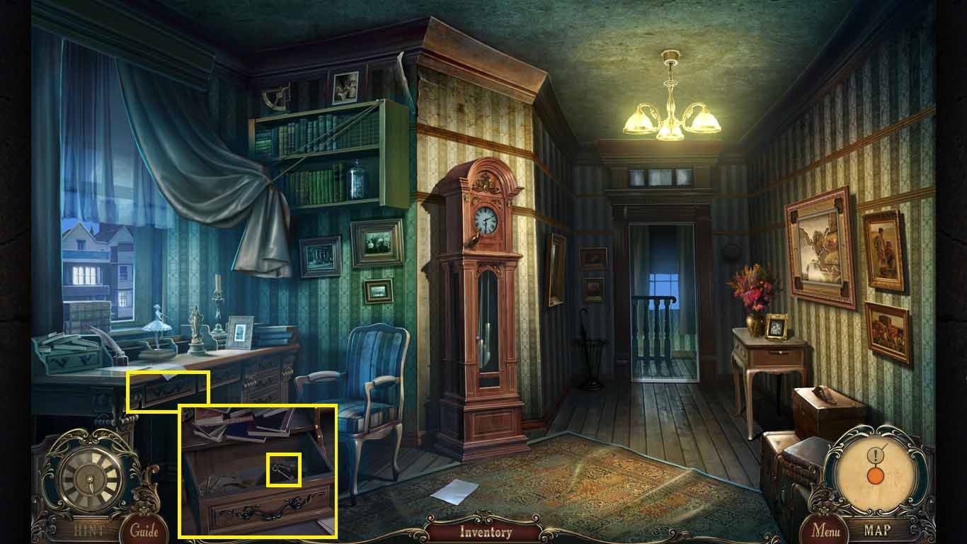 Brink of Consciousness: The Lonely Hearts Murders Walkthrough: Desk