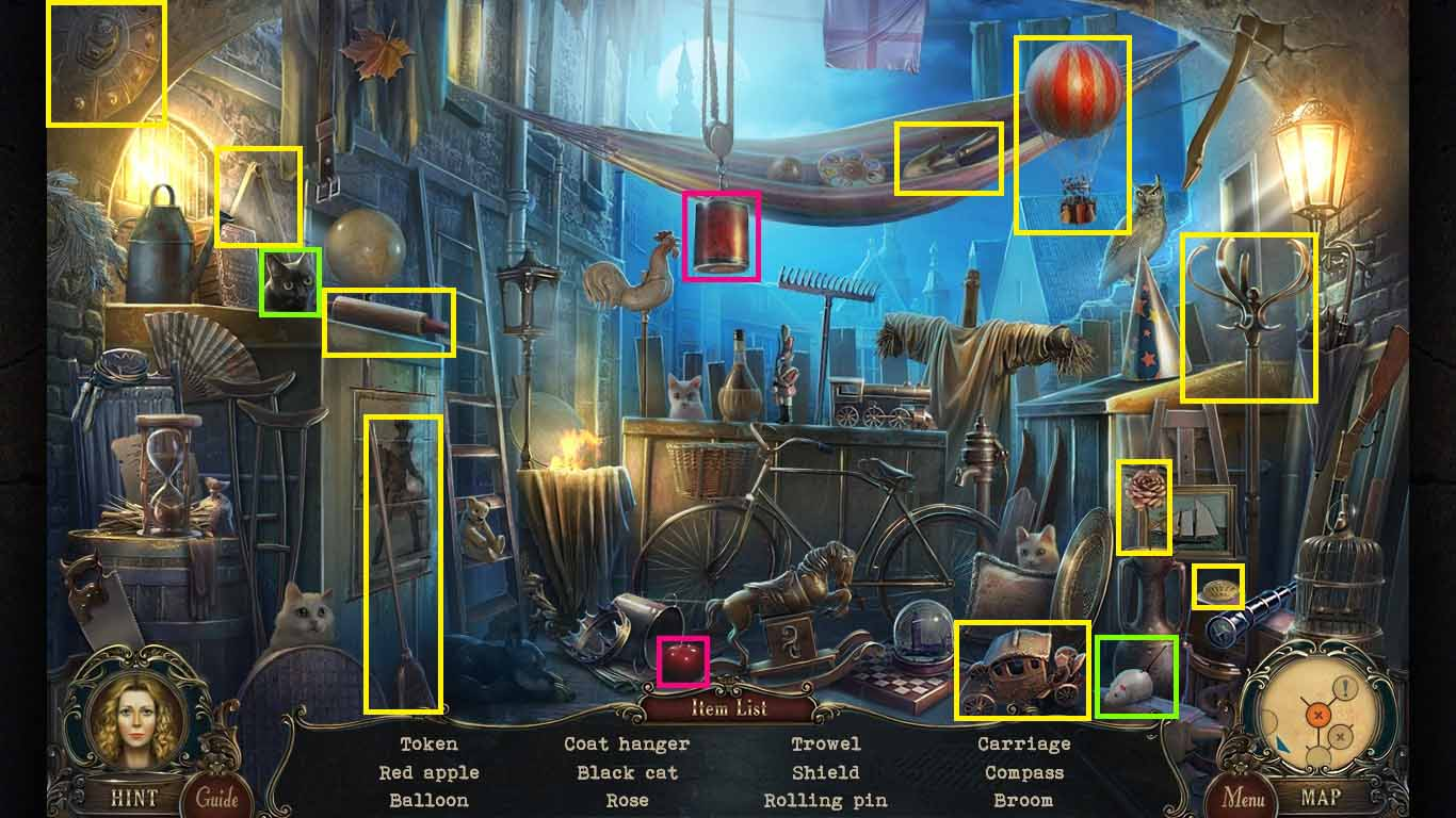 Brink of Consciousness: The Lonely Hearts Murders Walkthrough: Hidden Object area