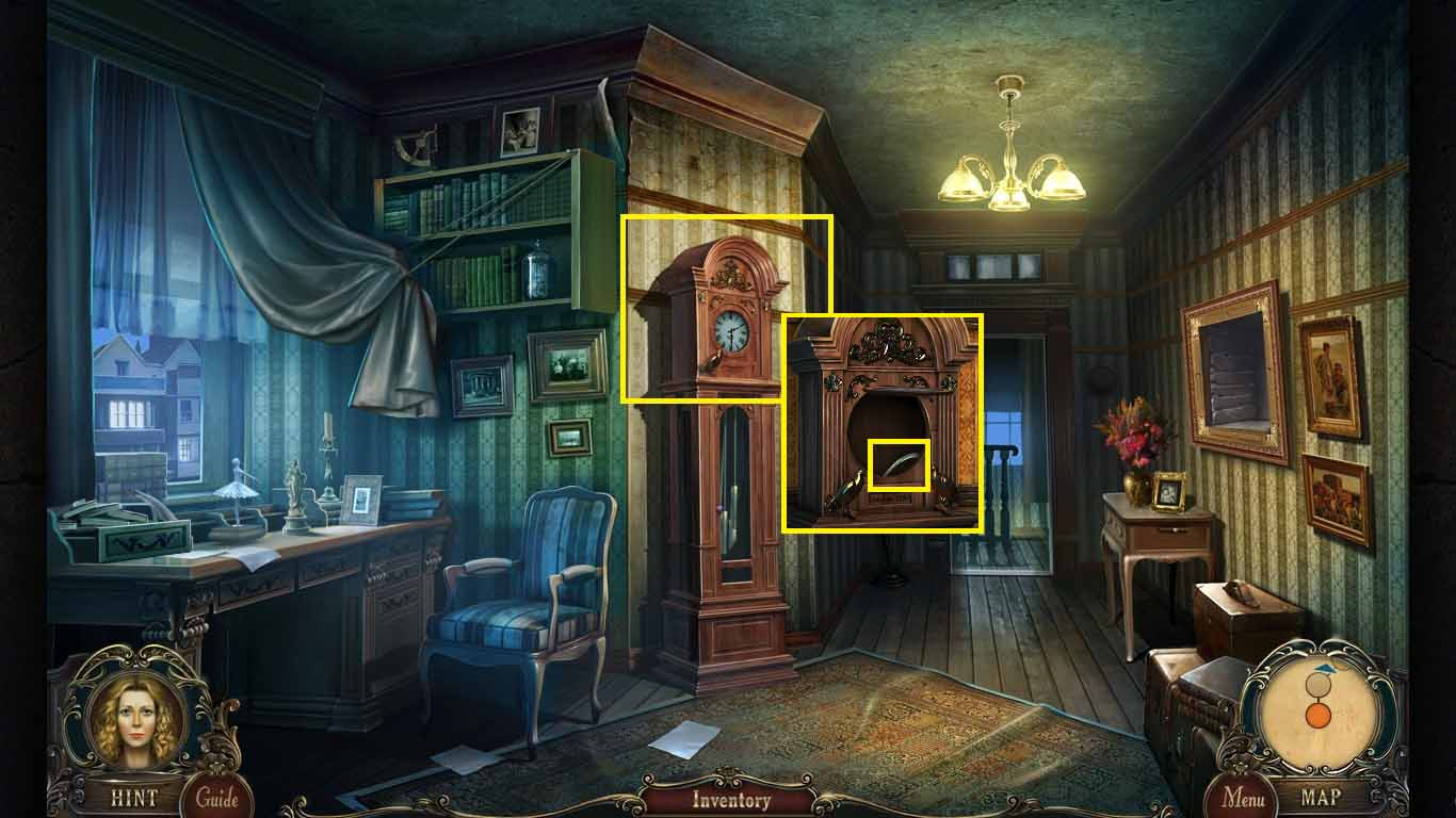 Brink of Consciousness: The Lonely Hearts Murders Walkthrough: Clock