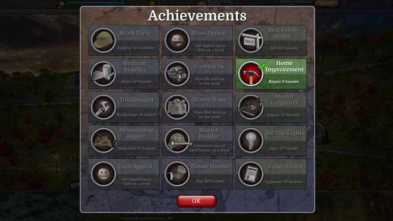 Build-a-Lot: Mysteries Walkthrough: Achievements