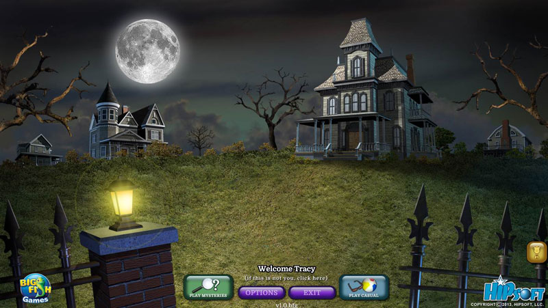 Build-a-Lot: Mysteries Walkthrough: Title Screen