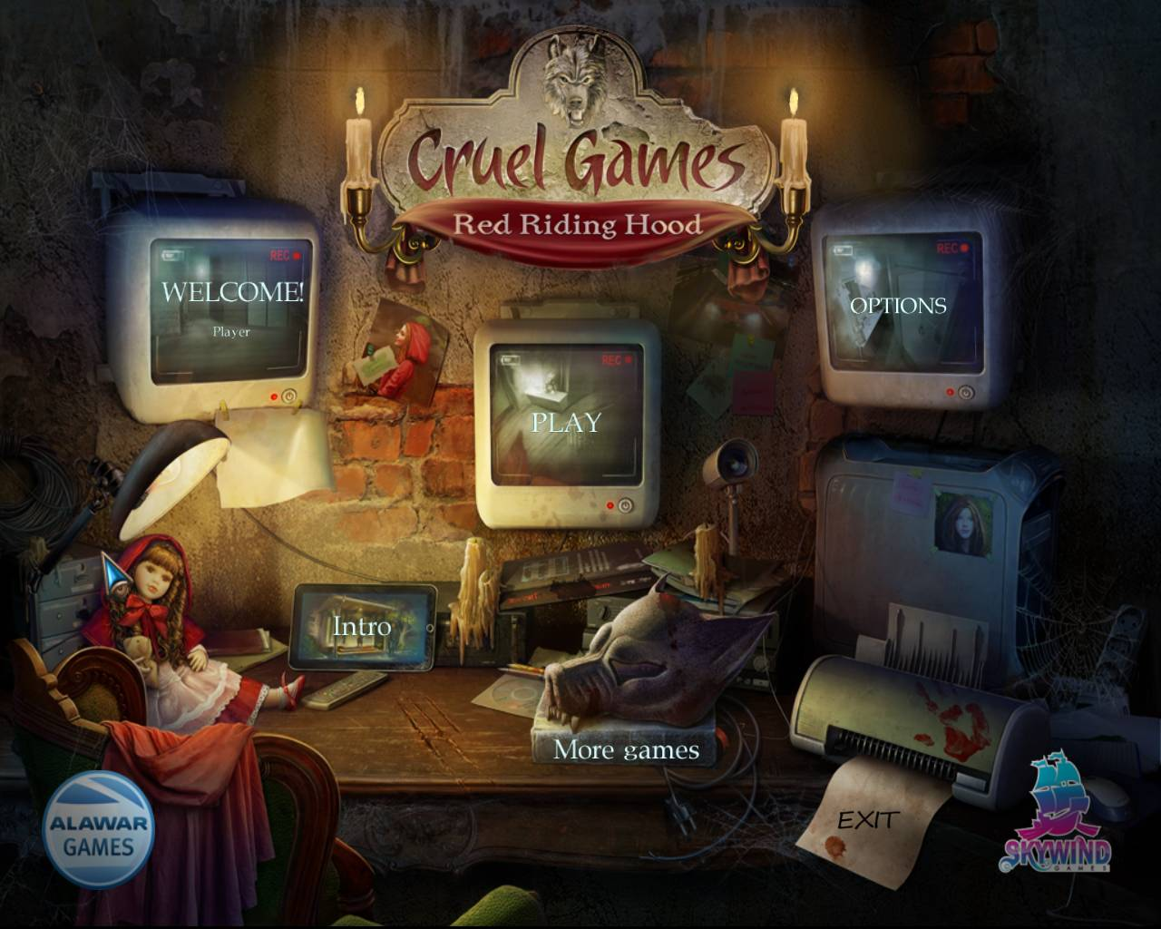 Cruel Games: Red Riding Hood Walkthrough: Title Screen