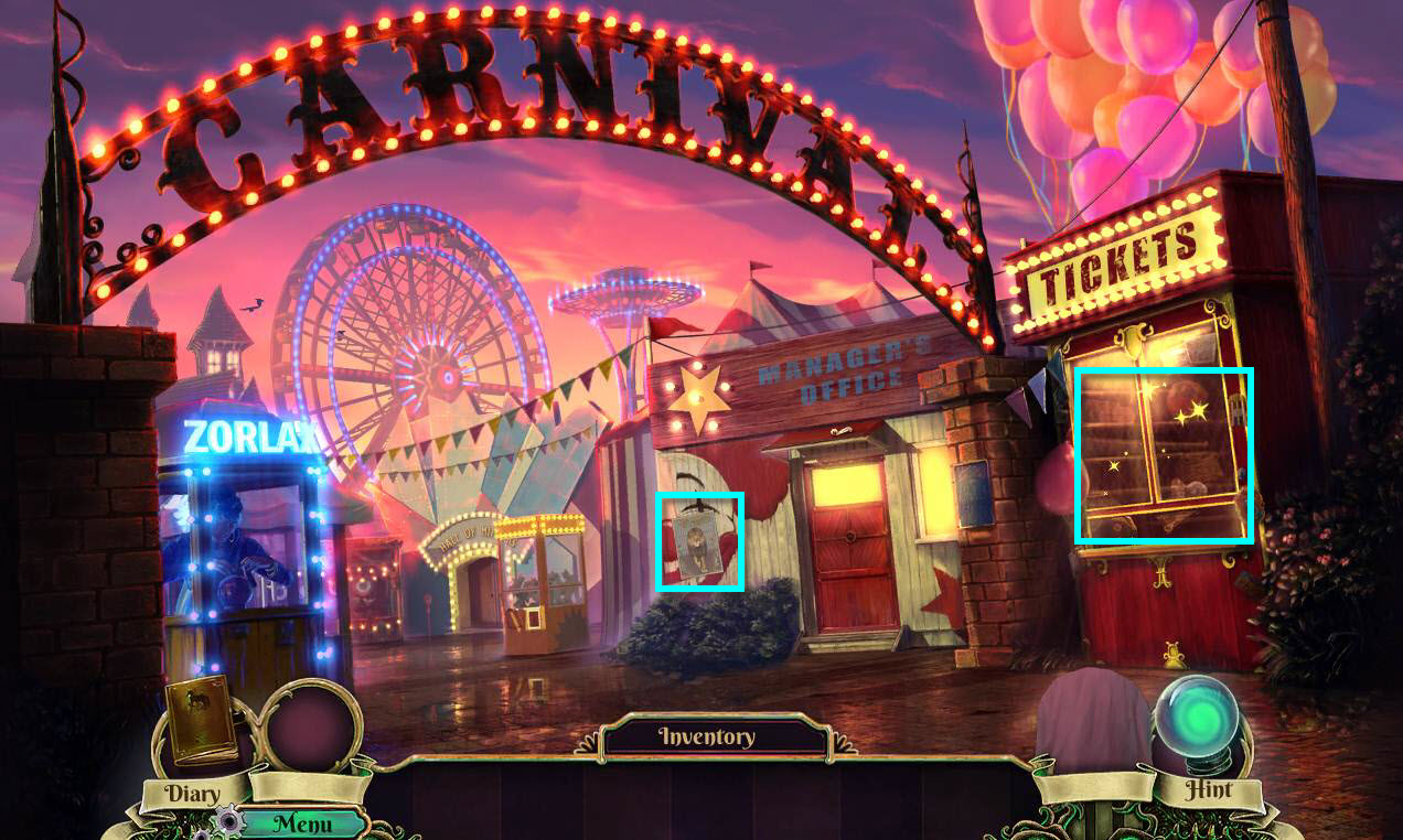Dark Arcana: The Carnival Walkthrough: Ticket Booth Hidden Object Game
