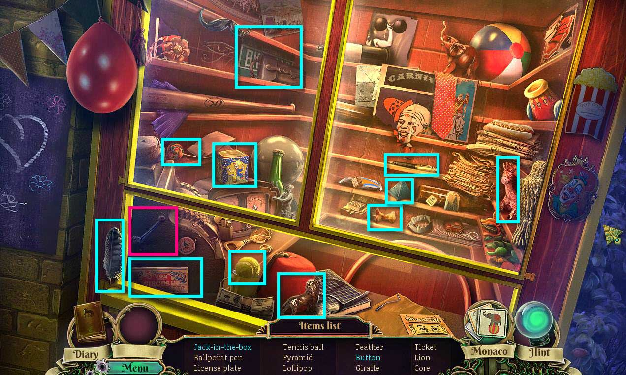 Dark Arcana: The Carnival Walkthrough: Hidden Object Game