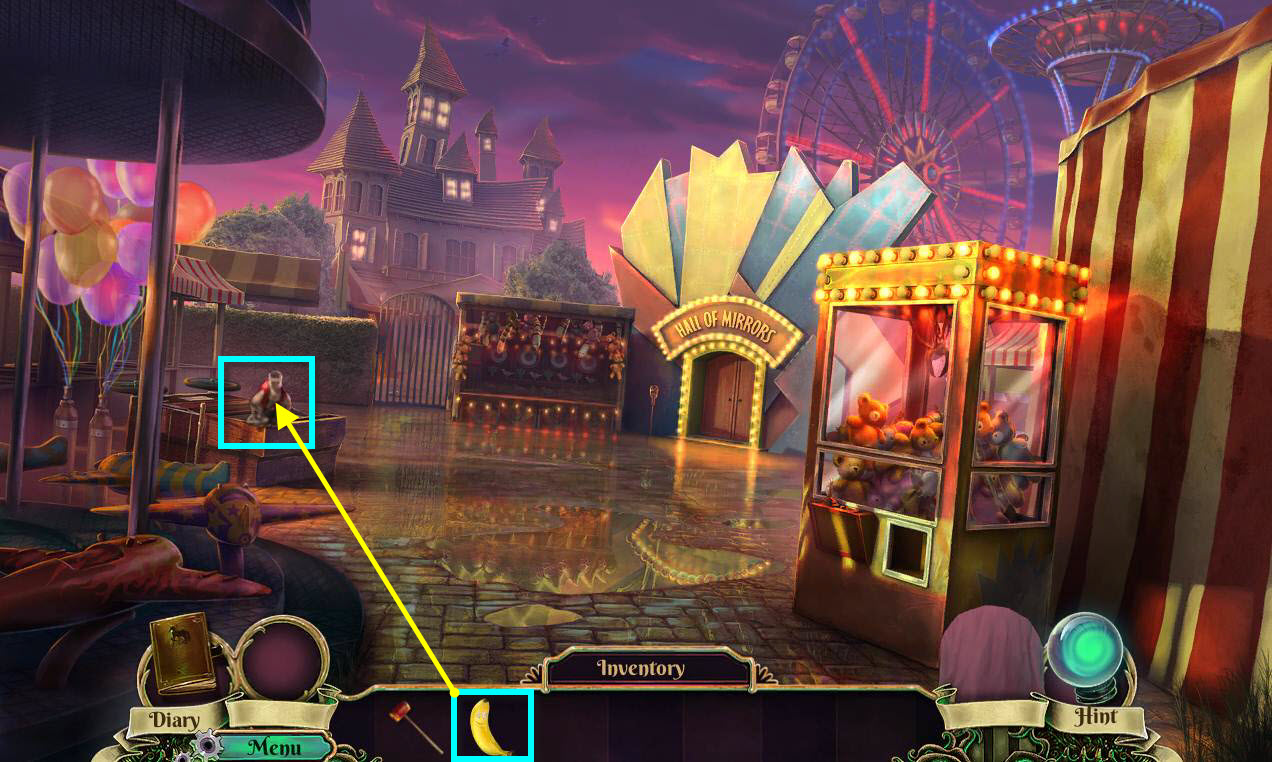 Dark Arcana: The Carnival Walkthrough: Monkey