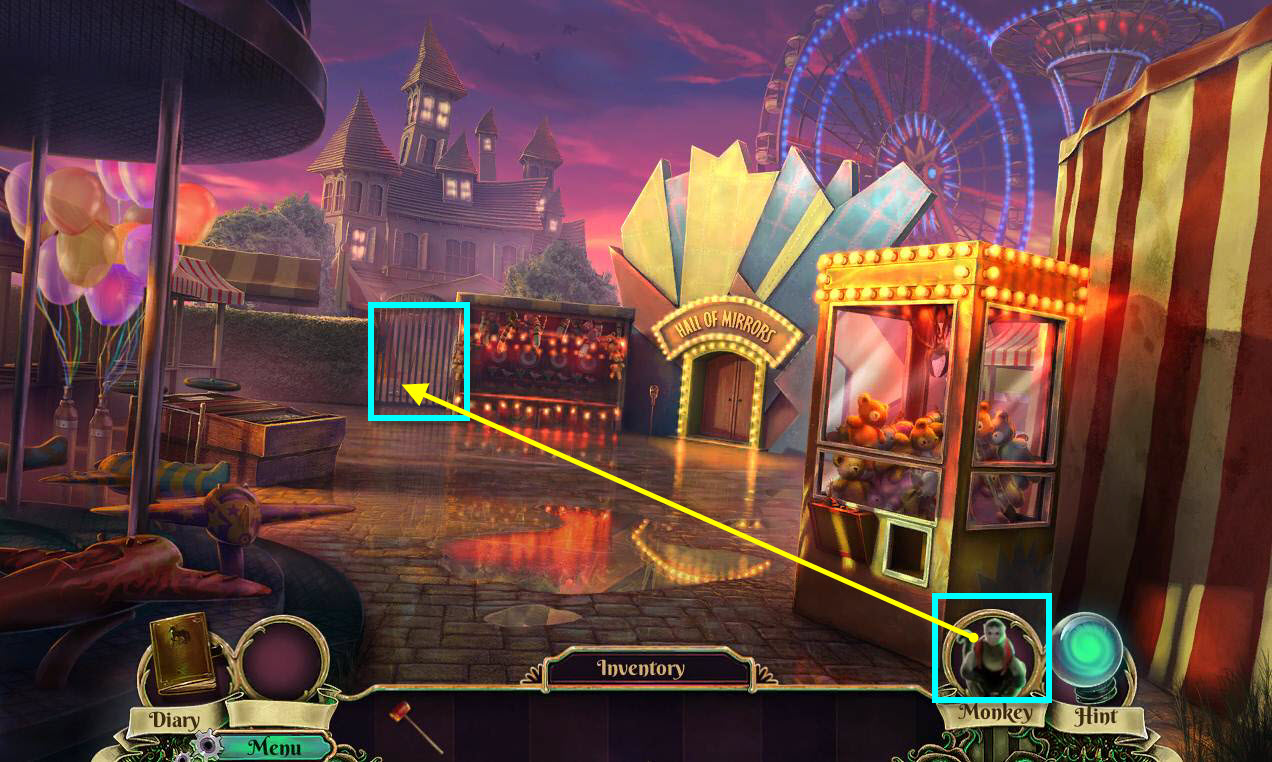 Dark Arcana: The Carnival Walkthrough: Key Monkey