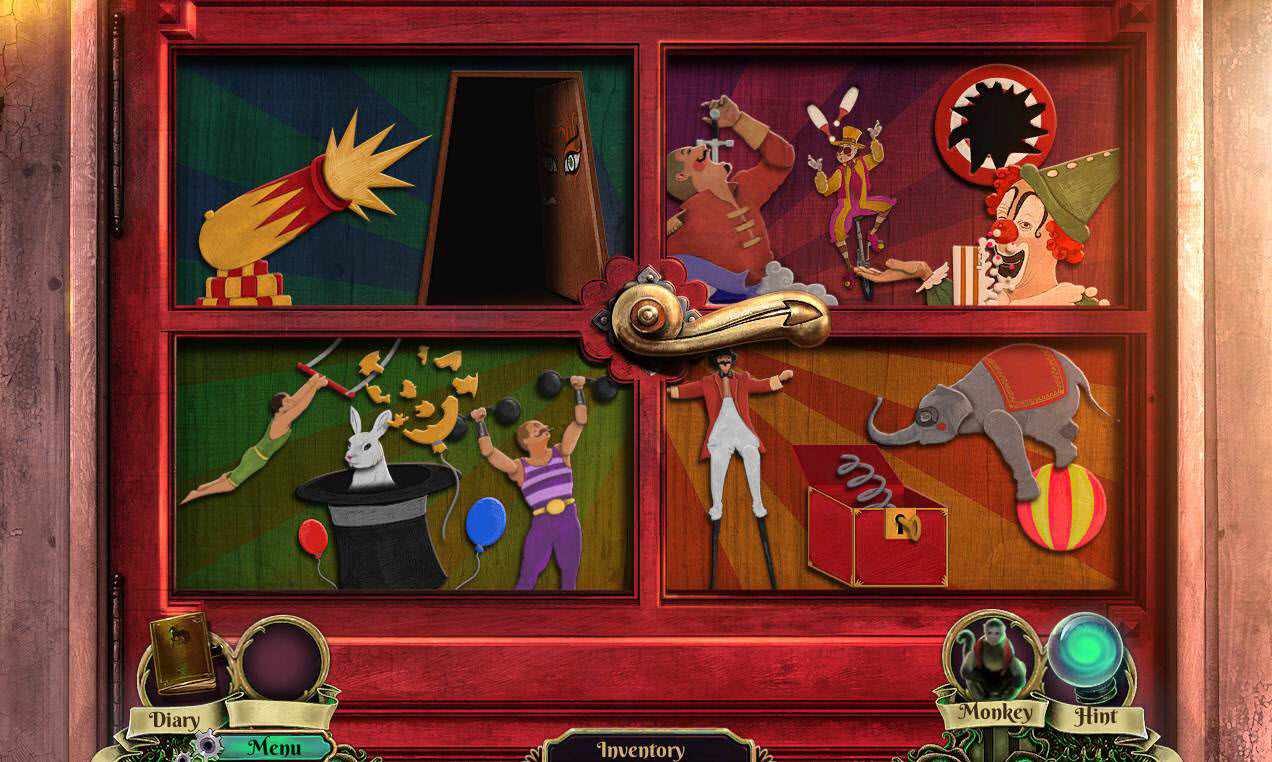 Dark Arcana: The Carnival Walkthrough: Door Puzzle