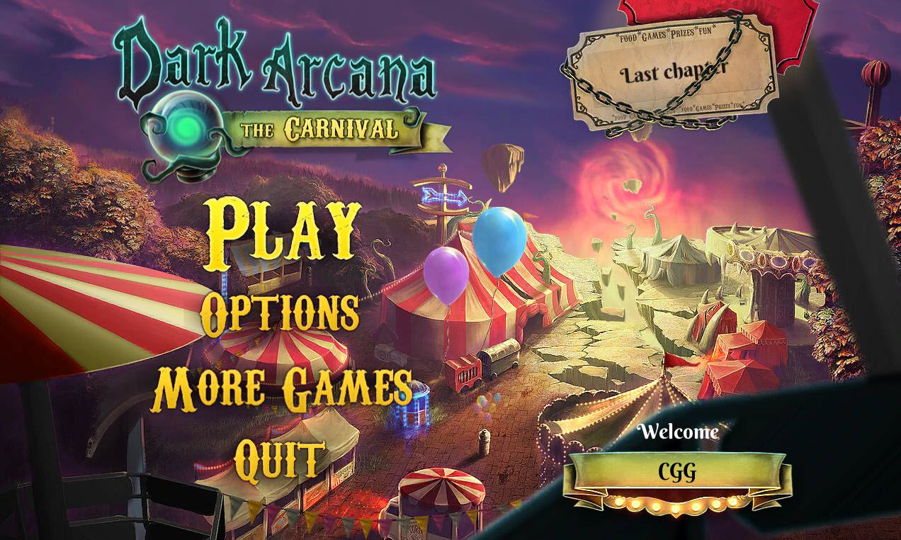 Dark Arcana: The Carnival Walkthrough: Title Screen