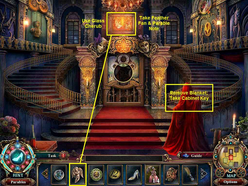 Dark Parables: The Final Cinderella Walkthrough: Grand Hall