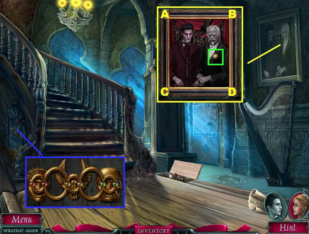In dark romance: vampire in love, you play as two characters, emily and enron