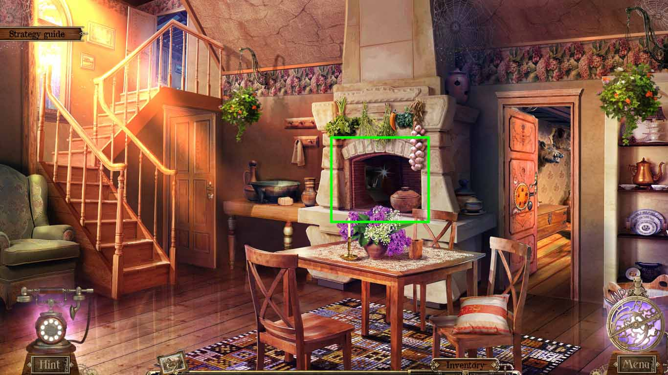 Detective Quest: The Crystal Slipper Walkthrough: Fireplace