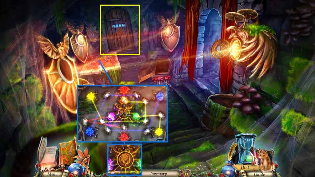 Grim Legends: The Forsaken Bride Walkthrough: Glowing Crystal Puzzle