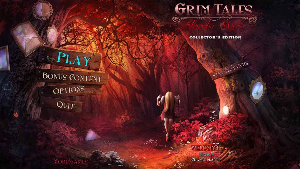 Grim Tales: Bloody Mary Walkthrough: Title Screen