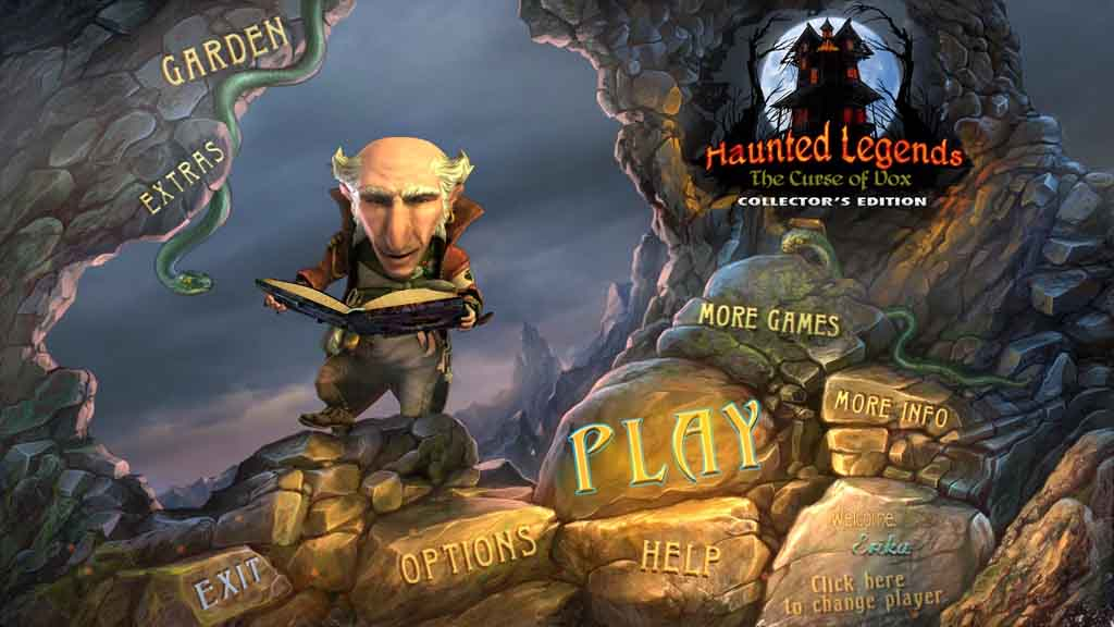 Haunted Legends: The Curse of Vox Walkthrough: Title Screen