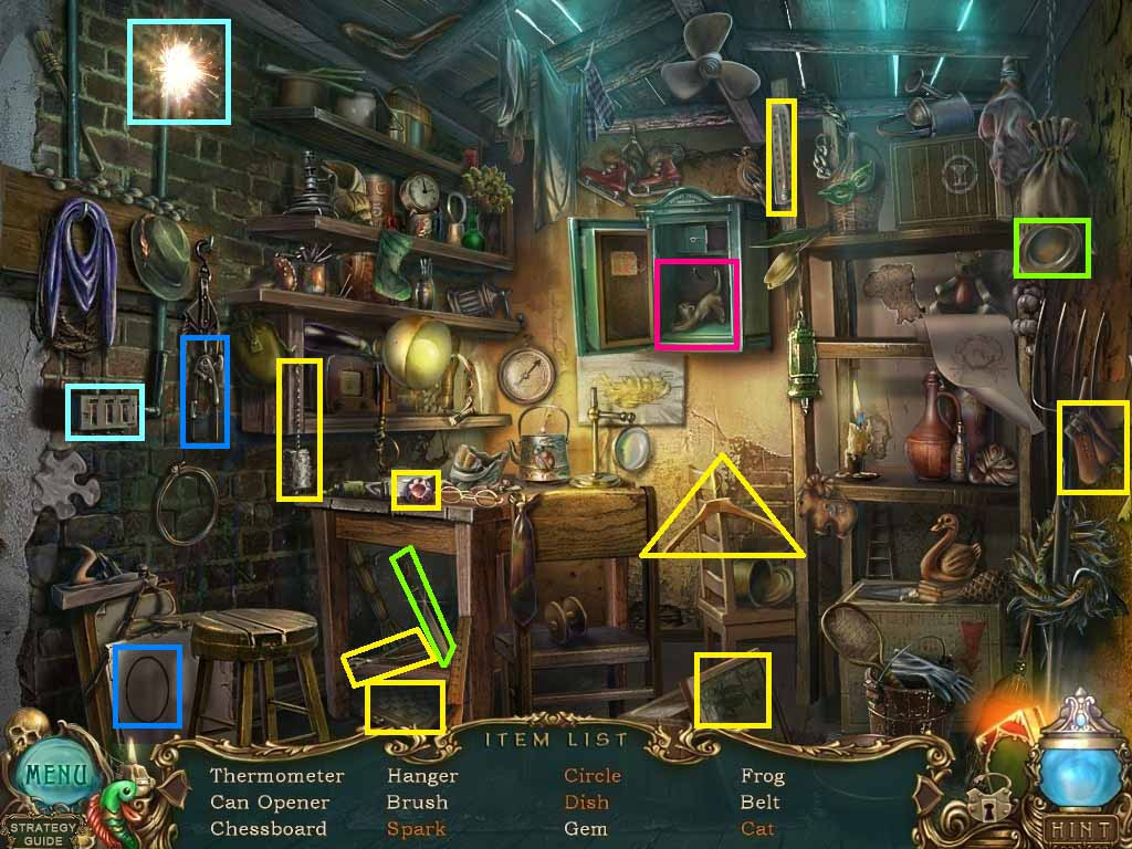 Haunted Legends: The Undertaker Walkthrough: Hidden Object Scene 1