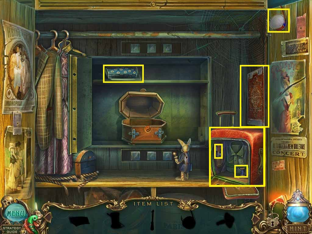 Haunted Legends: The Undertaker Walkthrough: Hidden Object Area 3