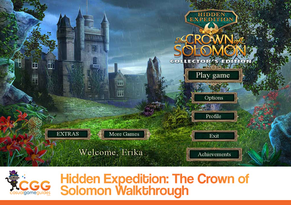 Hidden Expedition Crown of Solomon Walkthrough