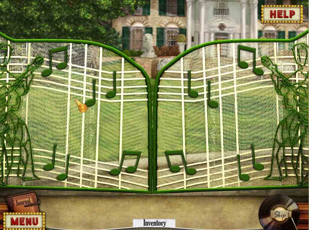 Hidden Mysteries: Gates of Graceland Walkthrough: Gate Puzzle