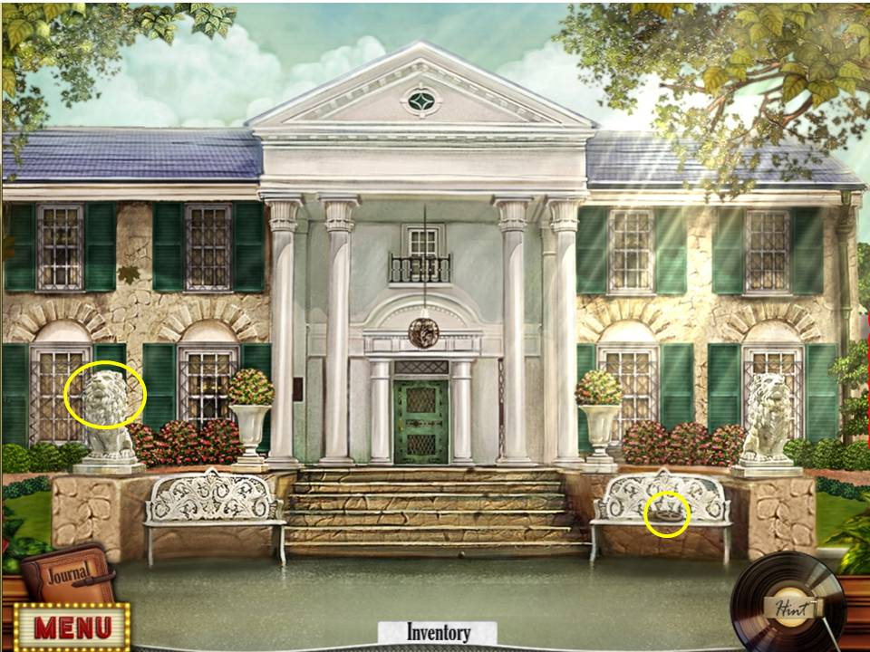 Hidden Mysteries: Gates of Graceland Walkthrough: Entrance