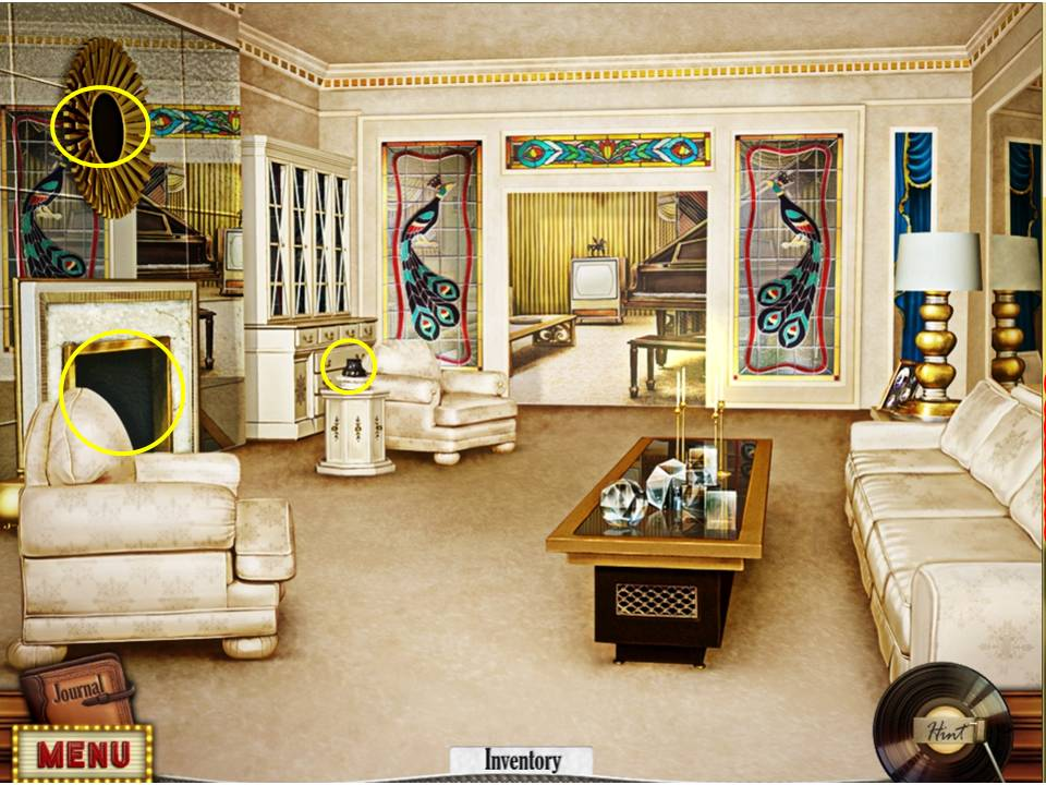 Hidden Mysteries: Gates of Graceland Walkthrough: Lounge