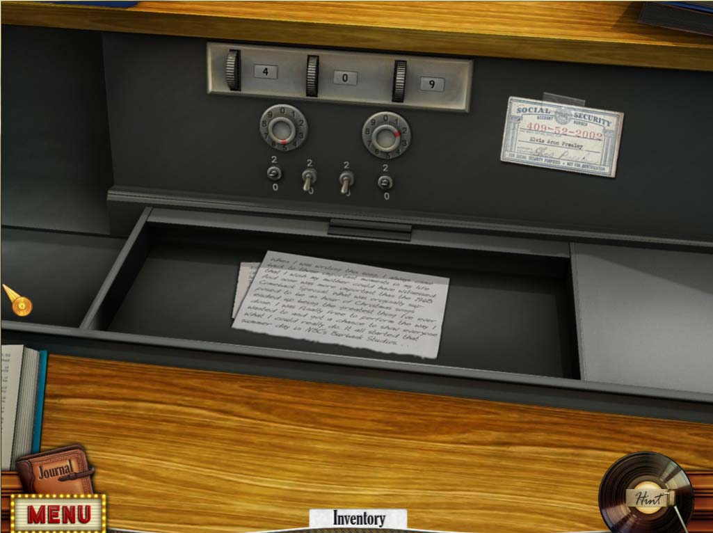 Hidden Mysteries: Gates of Graceland Walkthrough: Desk