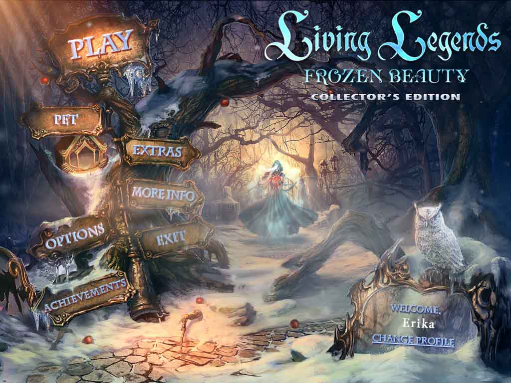Living Legends: Frozen Beauty Walkthrough: Title Screen