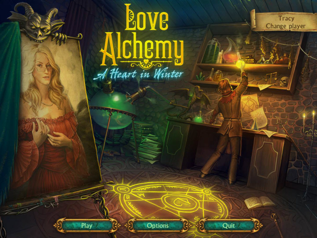 Love Alchemy: A Heart In Winter Walkthrough: Title Screen