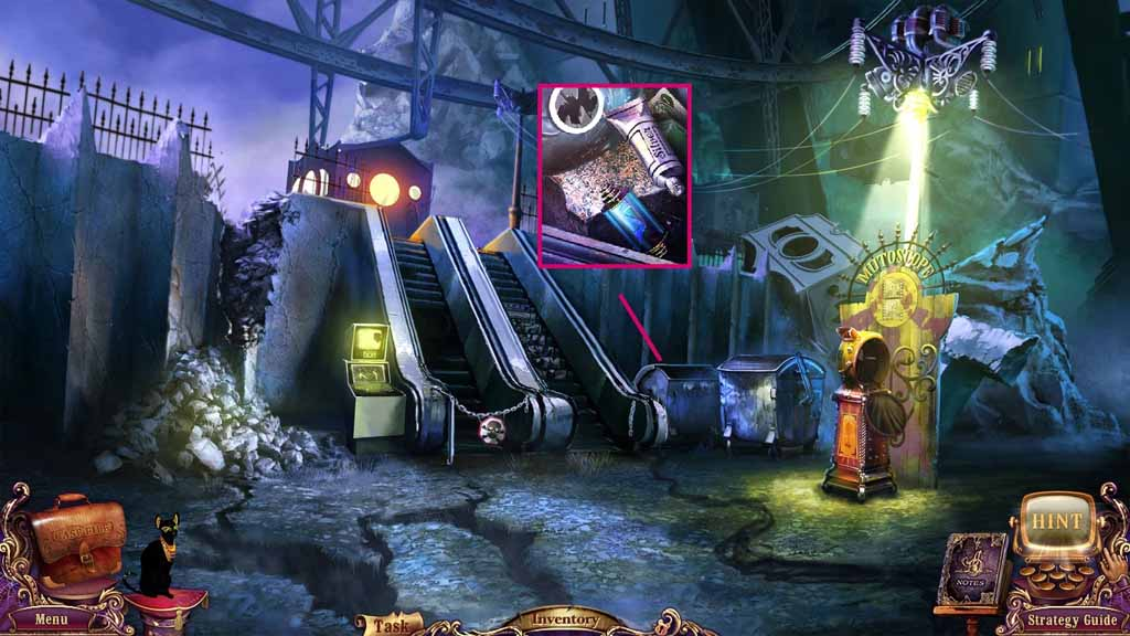Mystery Case Files: Fate's Carnival Walkthrough: Container
