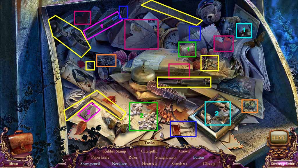 Mystery Case Files: Fate's Carnival Walkthrough: HO1