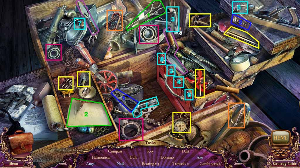 Mystery Case Files: Fate's Carnival Walkthrough: HO2