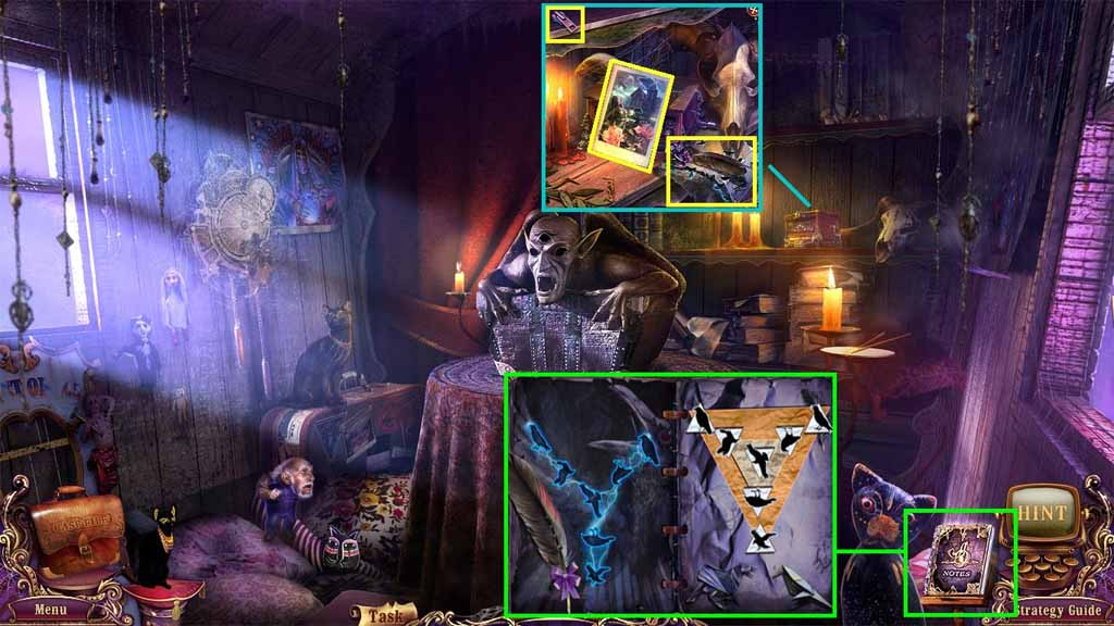 Mystery Case Files: Fate's Carnival Walkthrough: Postcard