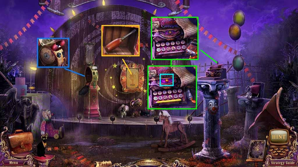 Mystery Case Files: Fate's Carnival Walkthrough: Device