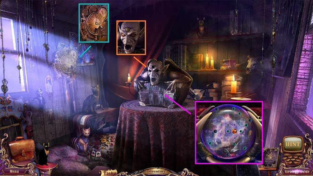 Mystery Case Files: Fate's Carnival Walkthrough: Cobwebs