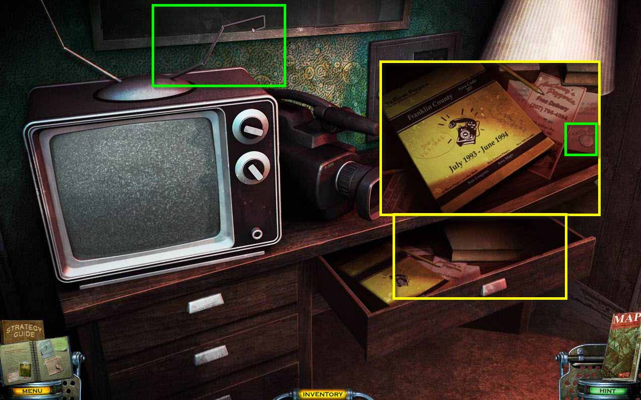 Mystery Case Files: Shadow Lake Walkthrough: Tv Drawer