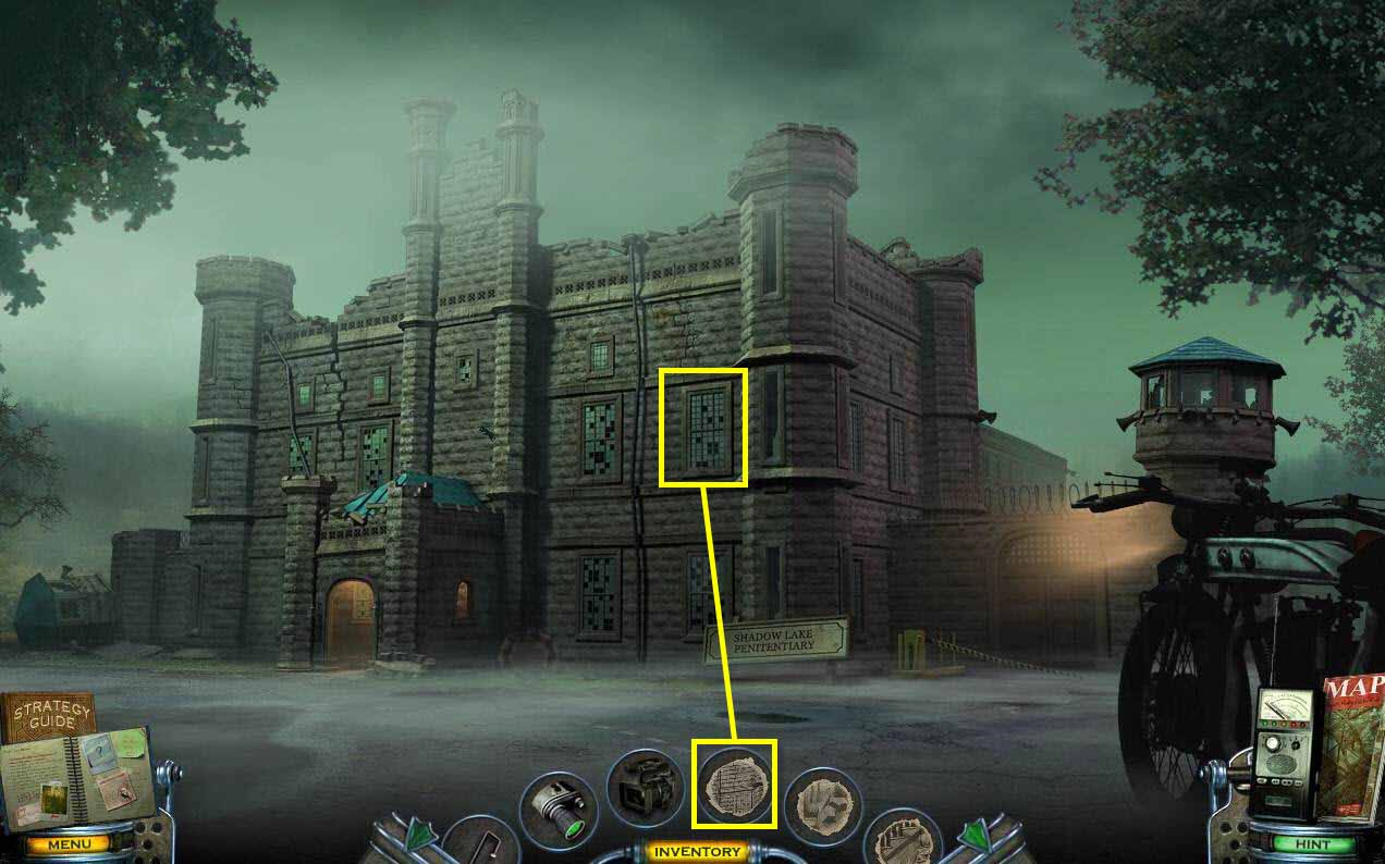 Mystery Case Files: Shadow Lake Walkthrough: Outside Prison