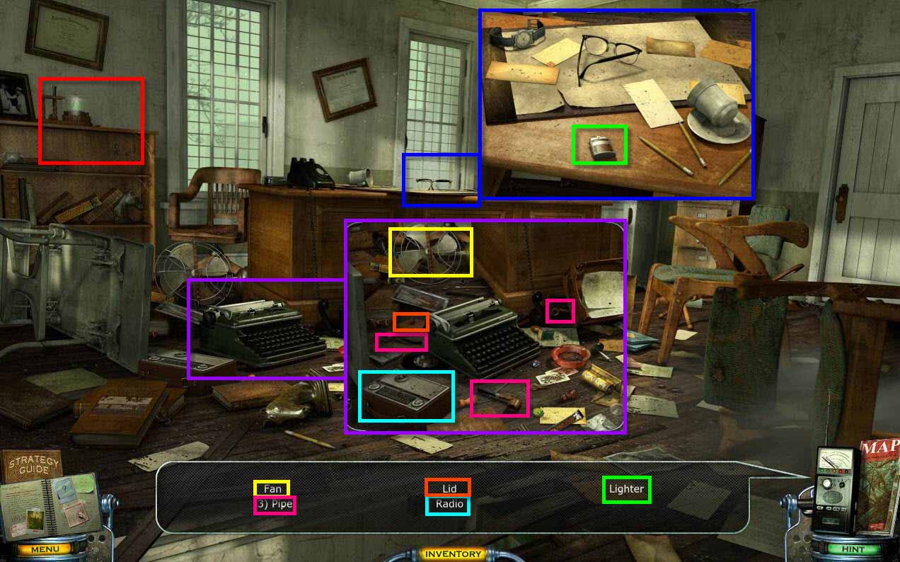 Mystery Case Files: Shadow Lake Walkthrough: Wardens Room Hidden Object Game