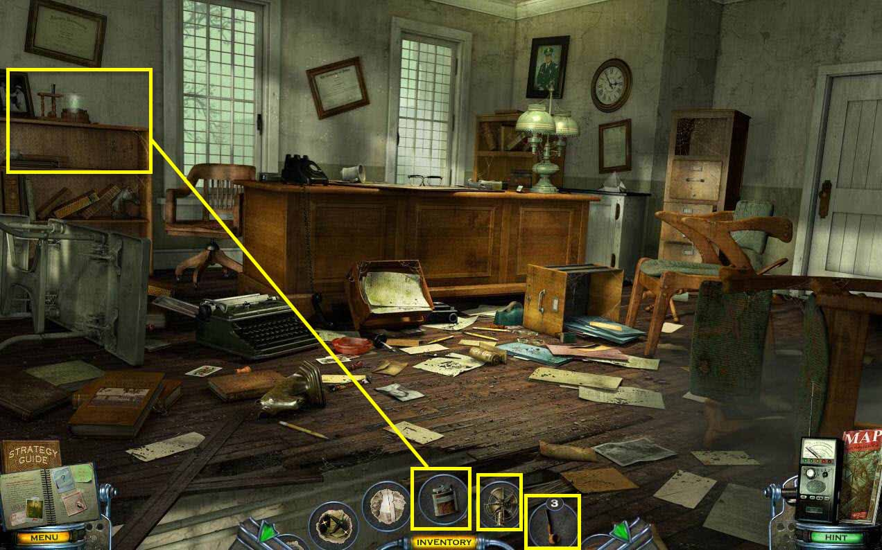 Mystery Case Files: Shadow Lake Walkthrough: Warden Room Objects