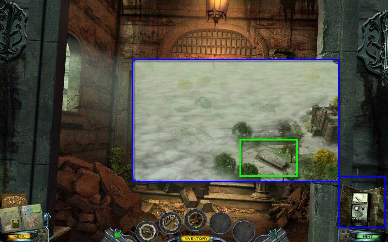 Mystery Case Files: Shadow Lake Walkthrough: Map
