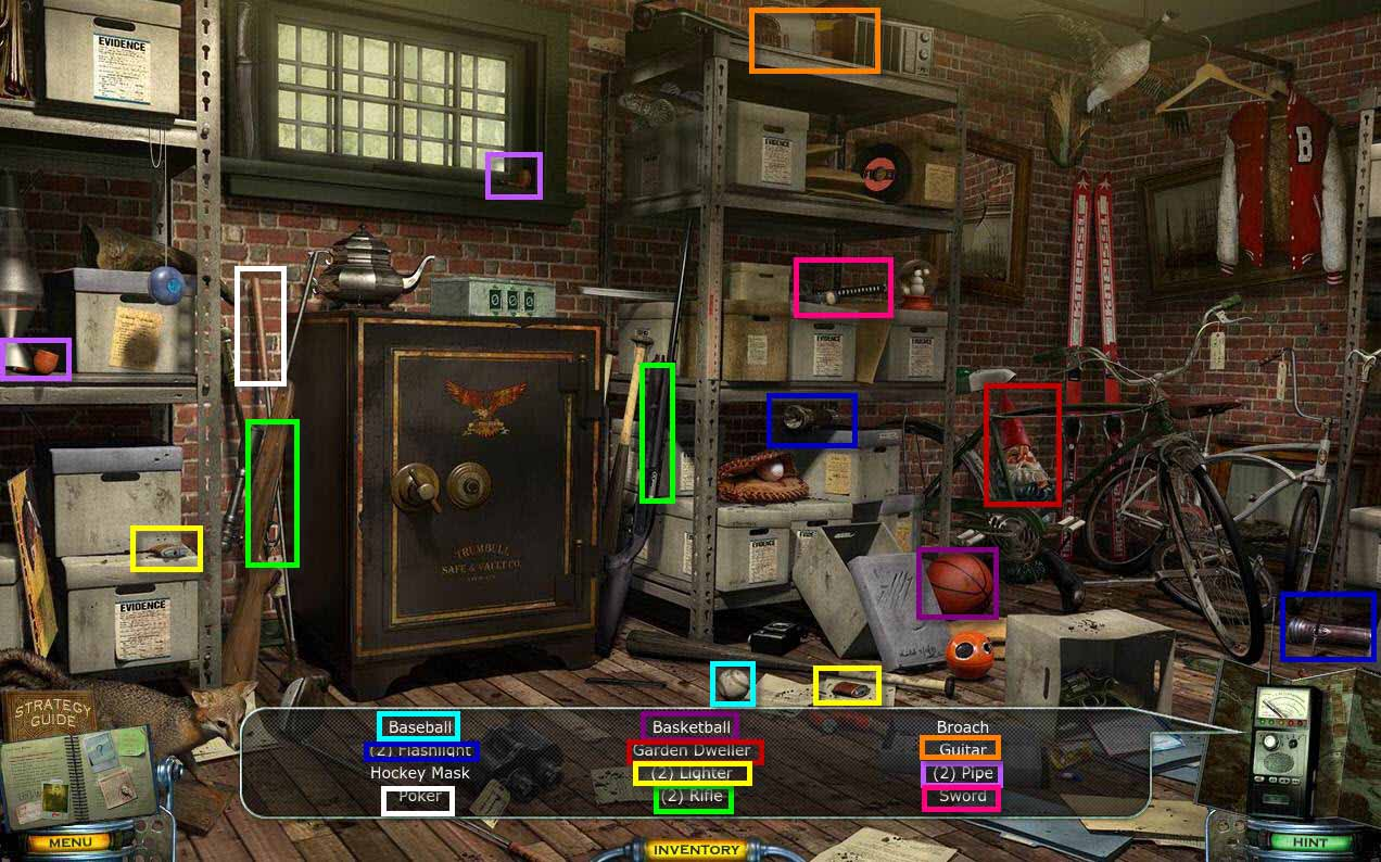 Mystery Case Files: Shadow Lake Walkthrough: Evidence HOG