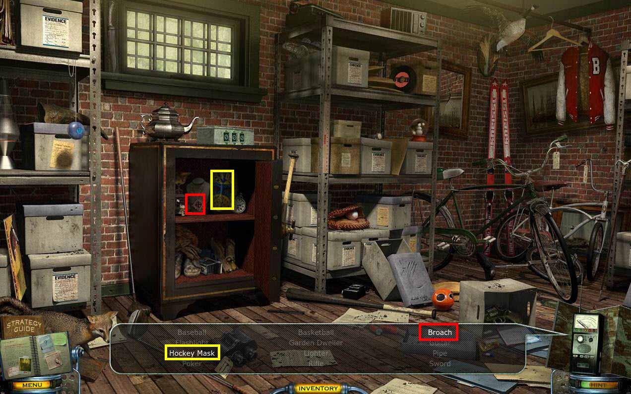 Mystery Case Files: Shadow Lake Walkthrough: Inside Safe
