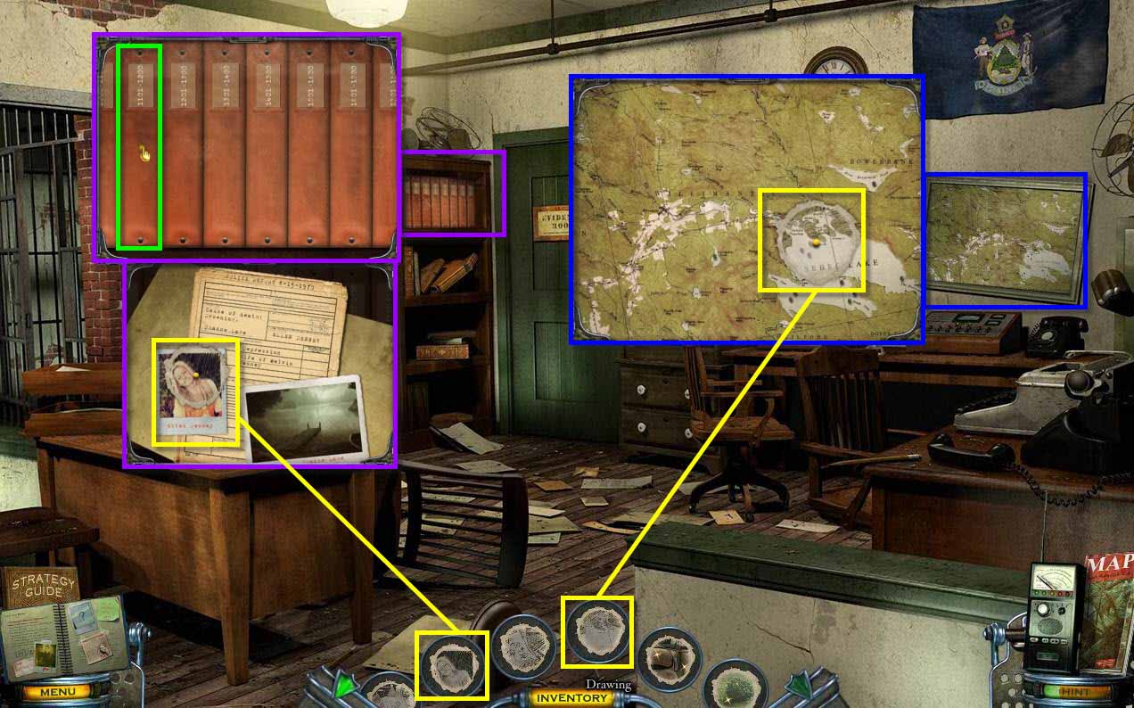 Mystery Case Files: Shadow Lake Walkthrough: Office Drawing