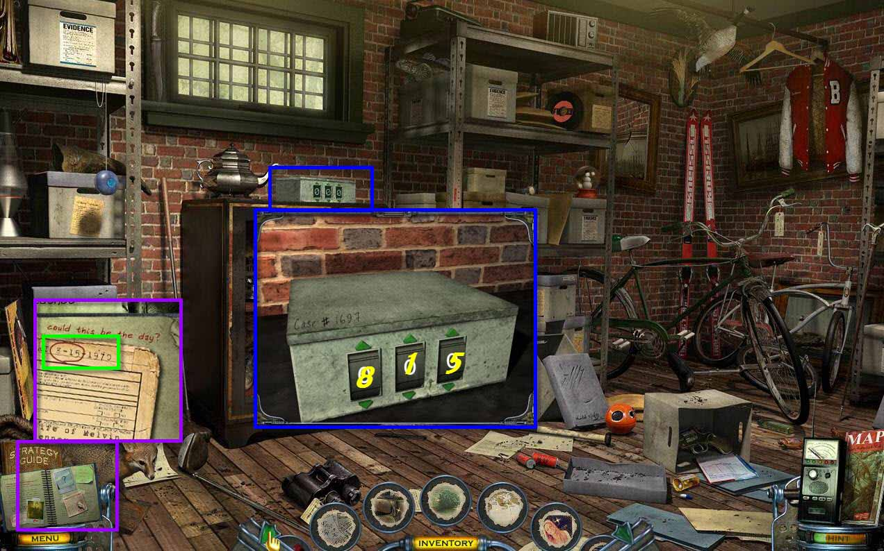Mystery Case Files: Shadow Lake Walkthrough: Lock Box