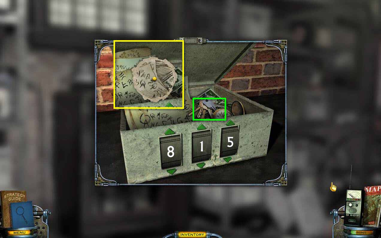 Mystery Case Files: Shadow Lake Walkthrough: Lock Box Drawing