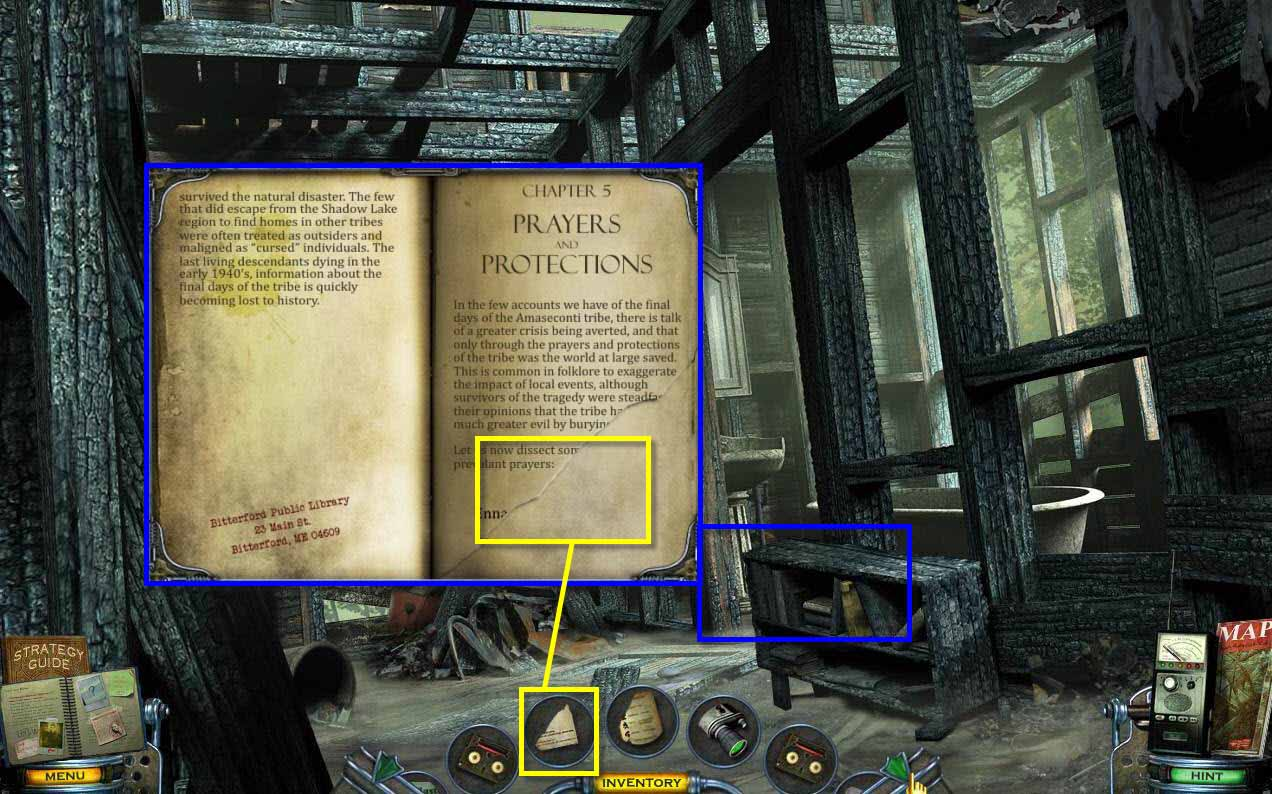 Mystery Case Files: Shadow Lake Walkthrough: Teachers Book