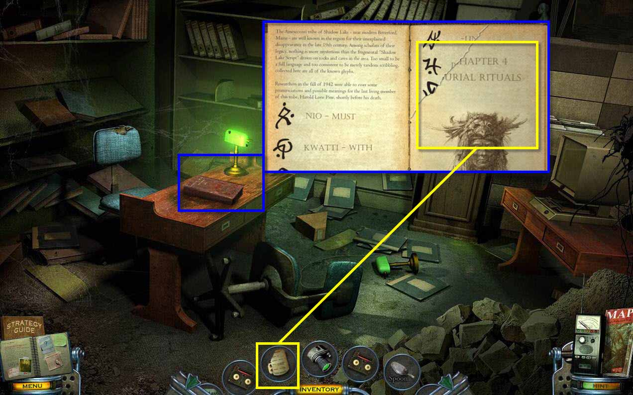 Mystery Case Files: Shadow Lake Walkthrough: Library Book
