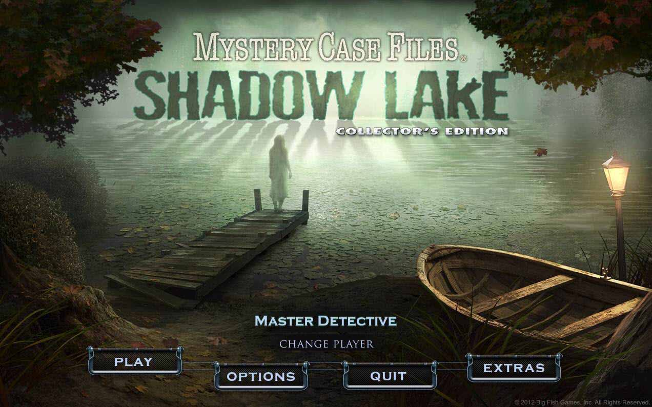 Mystery Case Files: Shadow Lake Walkthrough: Title Screen
