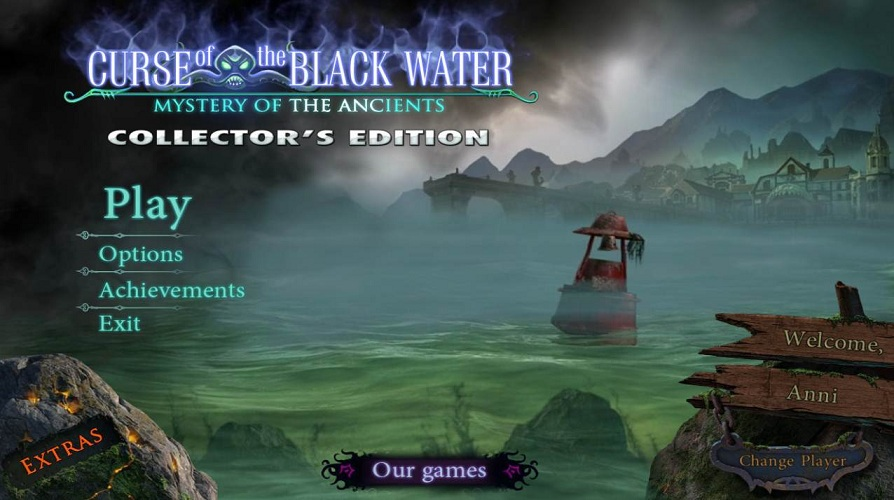 Mystery Of The Ancients: Curse of the Black Water Walkthrough: Title Screen