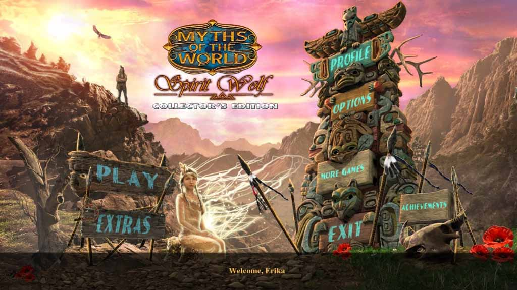 Myths of the World: Spirit Wolf Walkthrough: Title Screen